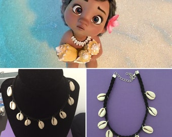 Baby Moana Necklace - Baby moana costume - Kids Size Cowry Shell Necklace