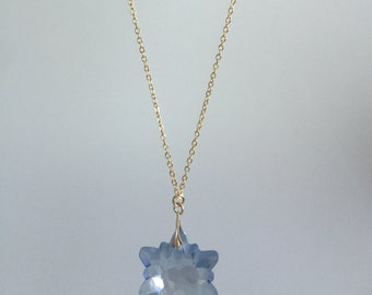 Long swaroski star pendant necklace0008