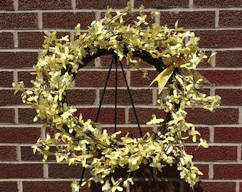 Fields of Yellow Flowers Wreath - Yellow Wreath - Yellow Flowers
