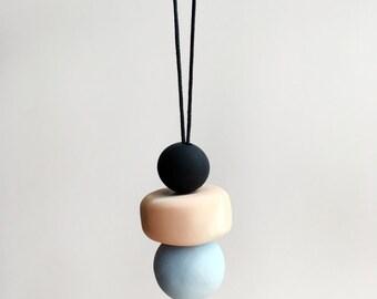 Simple Drop Clay Necklace