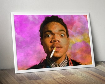 Chance the Rapper Painting Poster  5x7 8x10 12x16 18 x 24