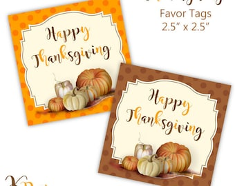 Thanksgiving Favor Tags Printable