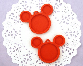 Red Mickey Mouse  Style Cameo