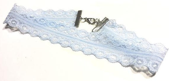 Choker | Lace | Powder blue | Light blue | Dainty | Gifts | Gift | LACI