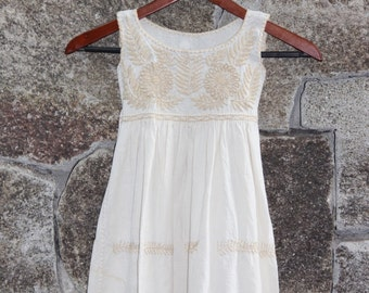 Hand embroidered dress for girls, size 3