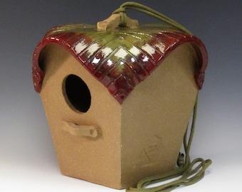 Finch Birdhouse - Calladium Collection