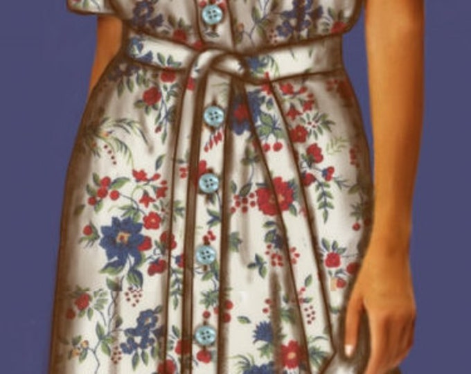 Chemise dress, 4 patterns for 4 different sizes