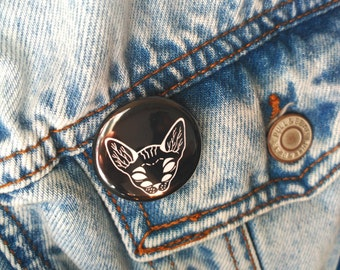 Sphynx Cat Badge