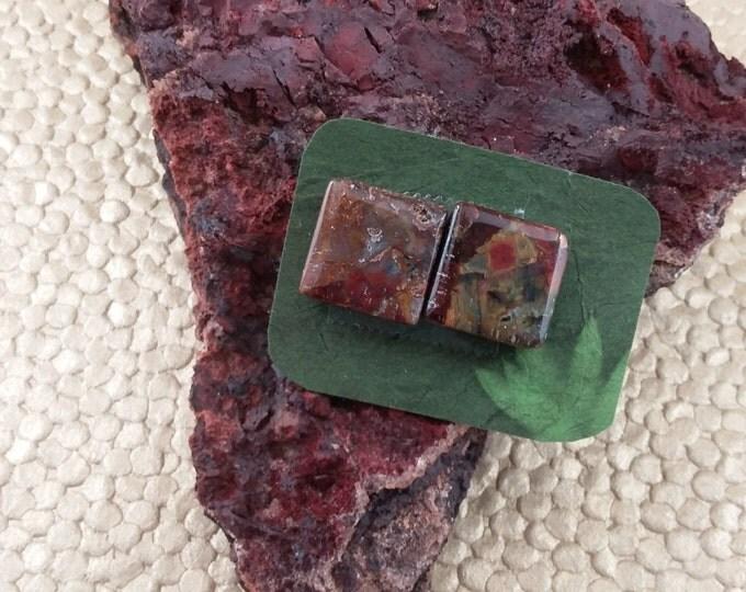 12mm Square Pietersite pair Beads