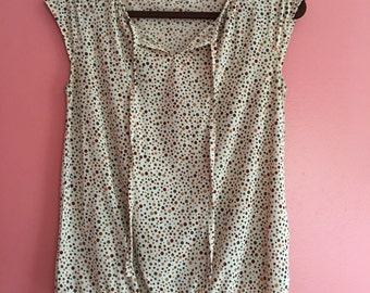 Vintage Polka Dot Sleeveless Top