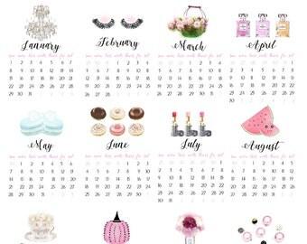 November 2016 Calendar Wall Calendar Desk Calendar by AmourDeLux