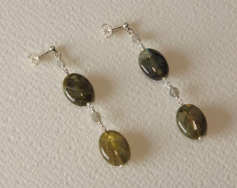 Earrings Labradorite and Silver 925%