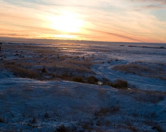 Sunrise in Hooper Bay, Alaska