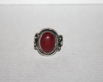 Quartz ring, Silver ring, boho ring, tribal ring, gypsy ring, Tibetan ring, Navajo ring, Adjustable ring RR