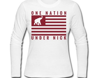 Women's One Nation Under Nick Long Sleeve T-Shirt for Alabama Football Fans!