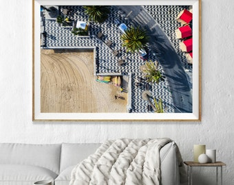 Portugal Aerial Beach Photography, Large Wall Art Decor, Colour Fine Art Photography, Art Prints, Mosaic Beach Cascais