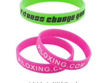 Custom Rubber Wristbands: Ink Injected Style