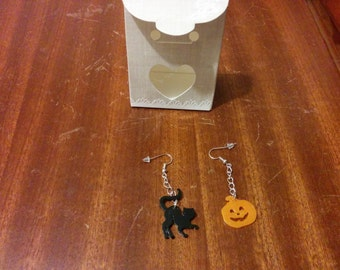 Hearrings earrings halloween style hand made and polished 3D printing