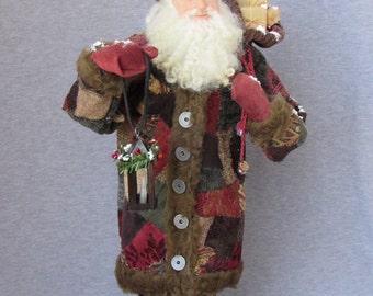 Handmade Santa - Old World Father Christmas- OOAK Sculpted Santa Claus by Nonna's Santas- Merry Christmas- Tis the Season