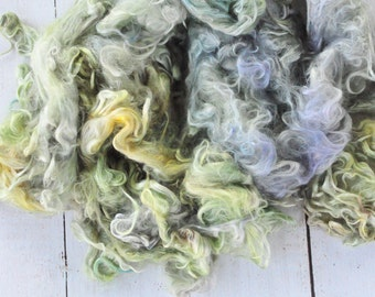 Suri Alpaca Locks - Hand Dyed - Silky and Soft - Herb Garden - 4 ounces
