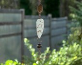 Wind Chime Beach Glass Beach Stone Copper with Brass Chimes windchimes