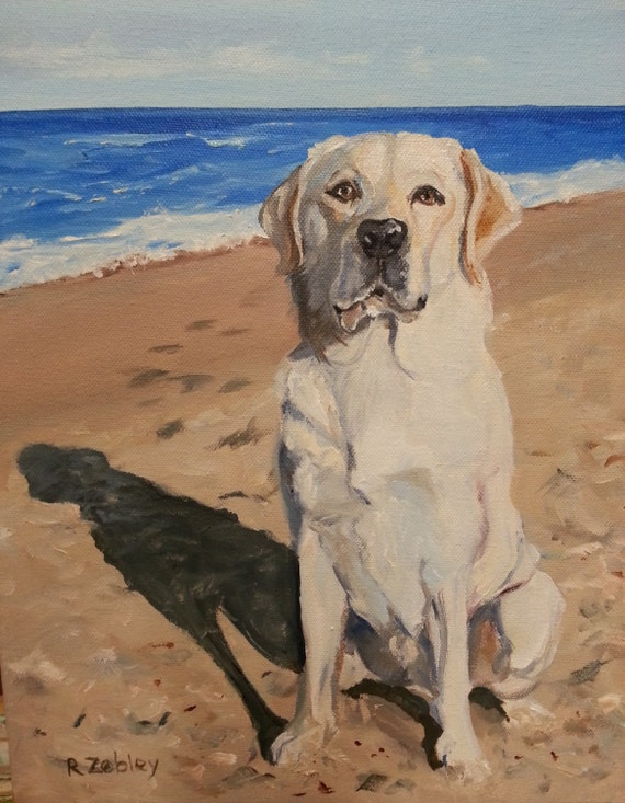 Dog Portrait Painting, Oils on Canvas, Labrador Retriever or any breed Painted by me