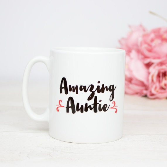 Amazing Auntie gift mug, lovely gift for any Auntie to show how amazing they are