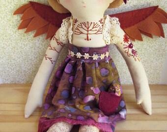 OOAK Embroidered cloth bohemian doll Tabitha