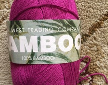 South West Trading Company Bamboo, Colorway 402-Magenta-Pure Bamboo Yarn