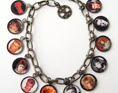 David Bowie Picture Charm Bracelet with 12 Photo Charms