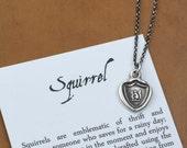 Squirrel Wax Seal Necklace - 259