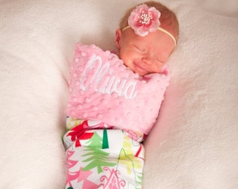 Baby's First Christmas Christmas Stocking Baby Stocking Baby Girl Stocking Pink Stocking Baby Photo Prop