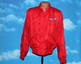 Molson Indy Racing Red Medium Jacket Vintage 1980s