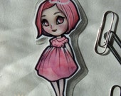 Bookmark - Laminated - Blythe - Doll - Anime - Chibi - Kawaii - Red