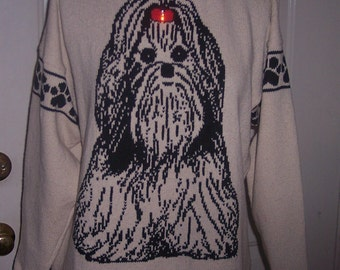 Custom Knit Shih Tzu Dog Sweater ****Create your own sweater see below*****