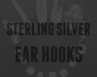 upgrade - handmade sterling silver ear hooks