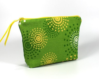 Green Starburst Zipper Pouch