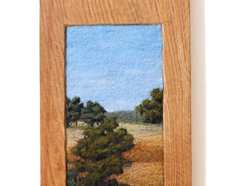 Golden Hills (CA) in burled oak