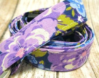 Lanyard, Badge Holder, ID Holder, Breakaway Lanyard, Fabric Lanyard, Employee Lanyard, Teacher Lanyard, Purple Lavendar Floral