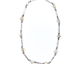 Mother-Of-Pearl Necklace, Vintage Middle Eastern Jewelry