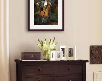 Yo Yo Ma portrait painting | watercolor print | fine art PRINT | cellist cello | musician painting | musical artwork | gifts for musicians
