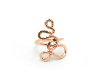 Copper Ring, Copper Jewelry, Hammered Ring, Wire Ring, Unisex Jewelry, Minimalist Ring, Men's Ring, Unisex Ring, Copper Jewelry