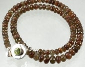 Andalusite Faceted Rondelle Classic Strand Necklace