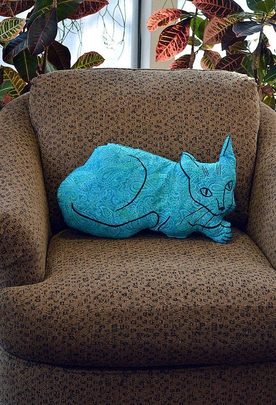decorative pillow cat pillow animal pillow big relaxed cat