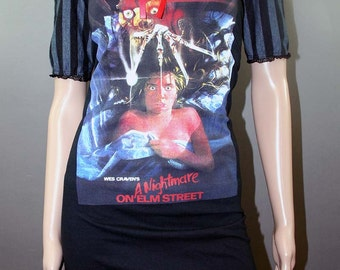 Nightmare on Elm Street Striped Horror Dress Freddy Krueger