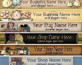 Raggedy Dreams  Designs - Premade Etsy Shop Banner - Etsy Banner - SHOP ICON - Primitive Raggedy Annie Saltbox Moon Fixins Angels