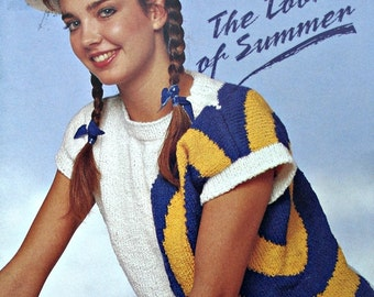 Sweater Knitting Patterns The Look of Summer Beehive Patons 600 Women Vinatge Paper Original NOT a PDF