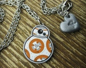 BB-8 Inspired Acrylic Necklace Small