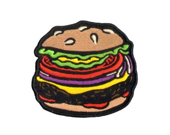 Lil' Burger Embroidered Patch