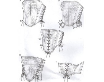 McCall's 4861 CORSETS Costumes ©2005 English and Spanish Espanol Instructions